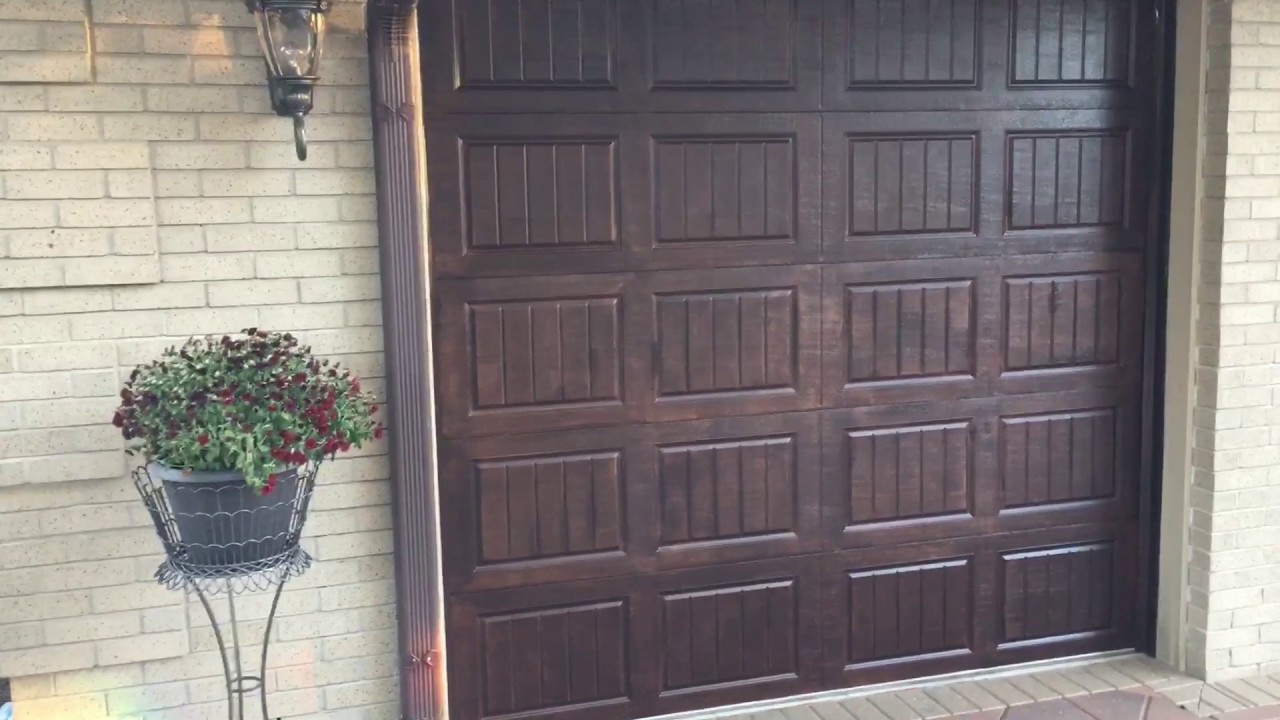 Metal Garage Door Transformation. Stained Wood Faux Finish ...