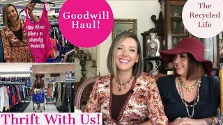 Thrift With Us! Goodwill Haul | The Recycled Life | Vintage Home | Mid Century Modern | Fashion