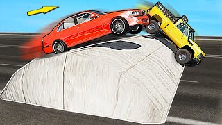 GIANT Speed Bumps CHALLENGE with Different Cars - BeamNG Drive