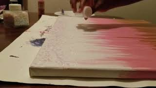 Glitter canvas art DIY