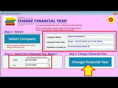 Change financial year in Speed Plus 8.0 Software