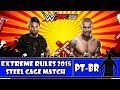 WWE 2K15 Extreme Rules 2015 Seth Rollins vs Randy Orton Steel Cage Match