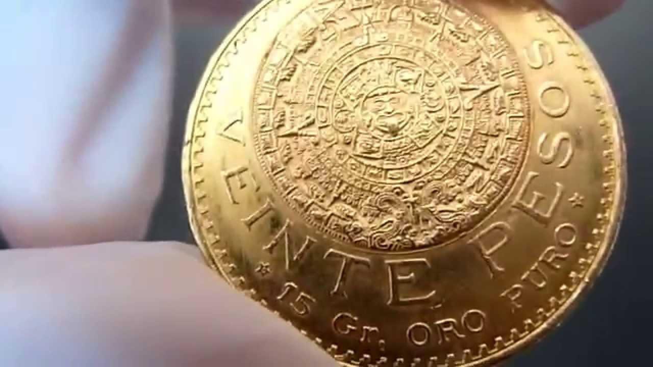 20 Pesos Gold Coin Mexico Youtube