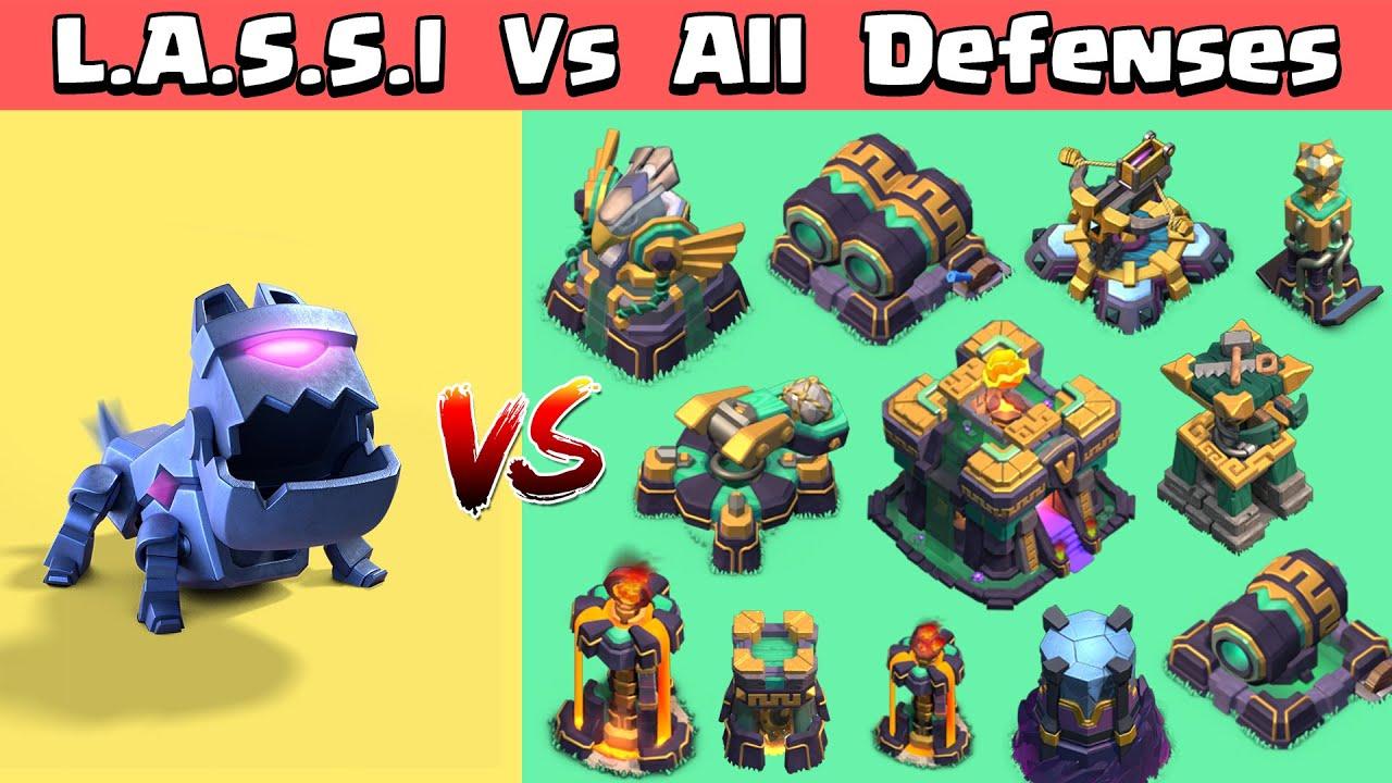 L.A.S.S.I Vs All Max Defenses | Clash of Clans | Town Hall 14 Update | Lassi Vs All Defenses