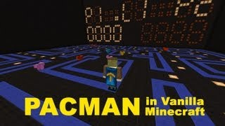 Pacman in Vanilla Minecraft an alpha lets play / test