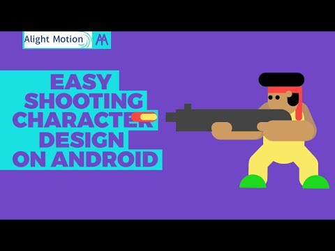 EASY Shooting 2D Character Design on Android | Alight Motion Tutorial thumbnail