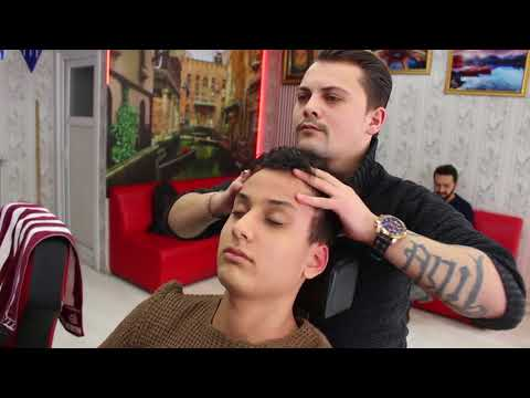 ASMR Turkish Barber Face,Head and Back Massage 82