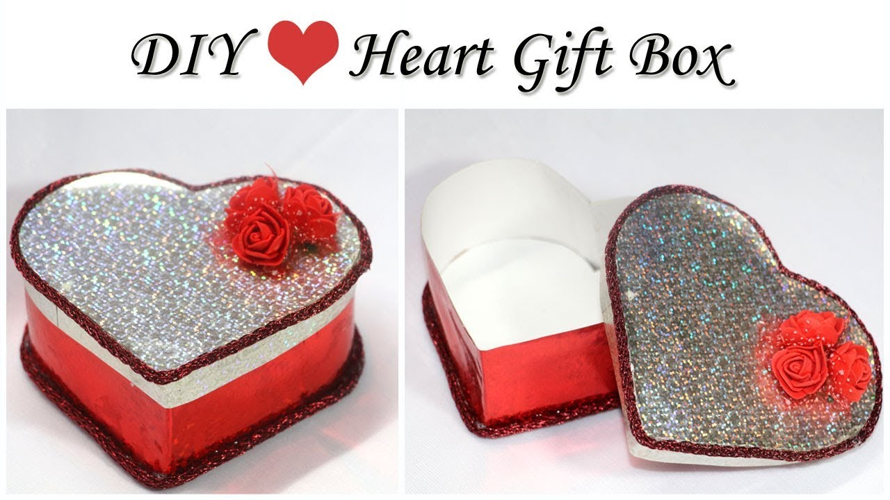 How To Make Heart Shaped Box Valentine Gift Box Diy Gift Box