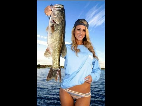 Nude women bass fishing here against