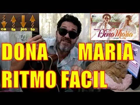 Dona Maria - Aula de Violão com 4 Acordes Fáceis. COMO TOCAR REGGAE CA FA JES TE DO PROF CLOVIS