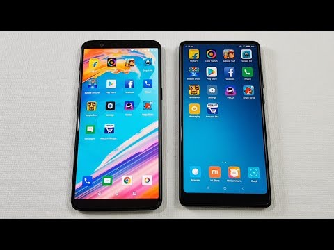 One Plus 5T vs Mi Mix 2 SPEEDTEST COMPARISON !!