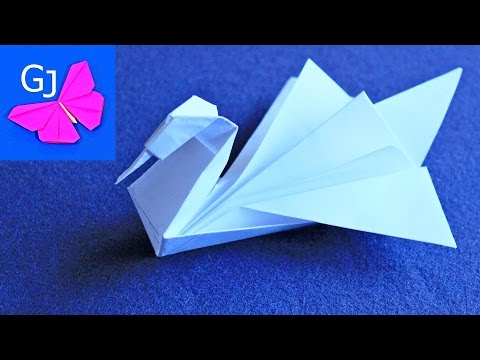 Оригами из бумаги видео уроки для начинающих лебедь