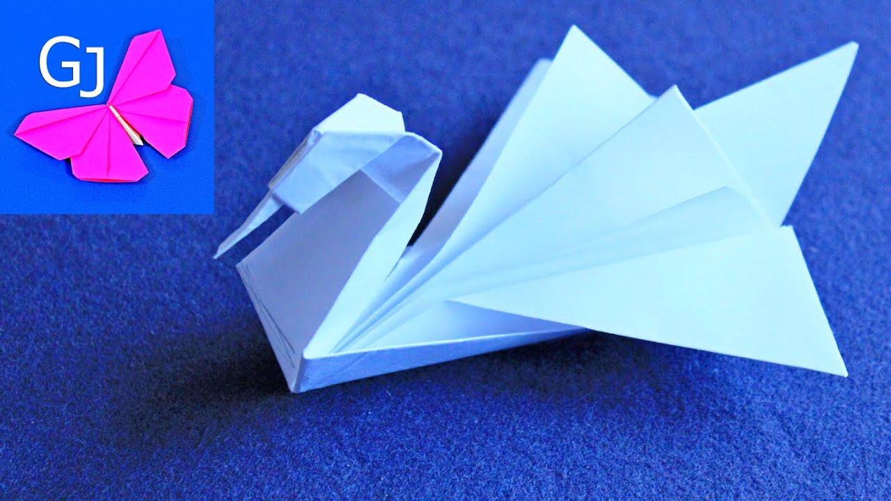 Оригами схема летящий лебедь