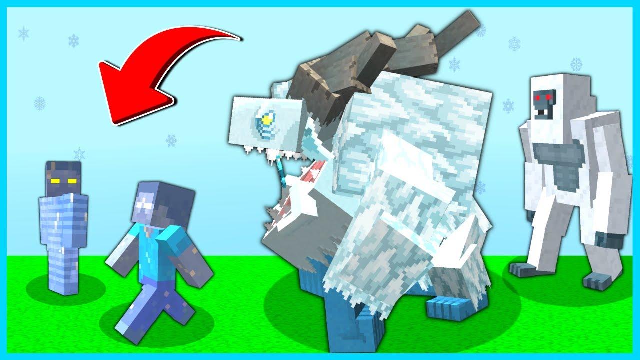 KAR CANAVARI ÇETESİ, AREF VE HEROBRİNE'I DONDURDU! 😱 - Minecraft
