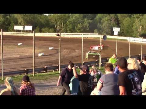 Hummingbird Speedway (7-8-17): Street Stock Heat Race #3