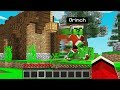 WE FOUND THE GRINCH'S *SECRET* HOUSE in Minecraft Pocket Edition!