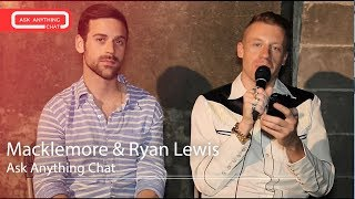 macklemore and ryan lewis answer fan questions on ask anything chat w romeo  askanythingchat