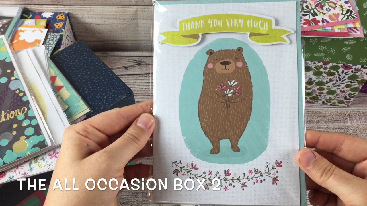 A Peek Inside The Cards for a Cause Boxes