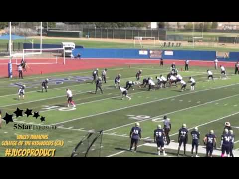 Bailey Ammons - College of the Redwoods (CA) Custom Football Highlight Tape