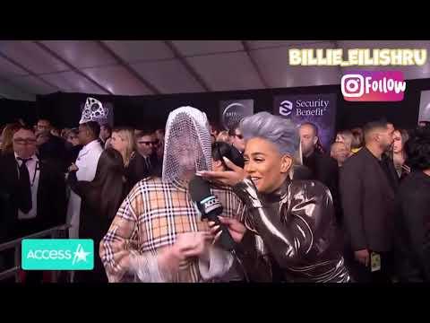 """Интервью Билли Айлиш перед AMAs """"American Music Awards"""" [русская озвучка]"""