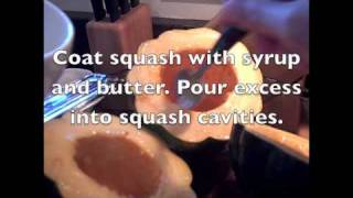 Maple Syrup Baked Acorn Squash In 78 Seconds.m4v