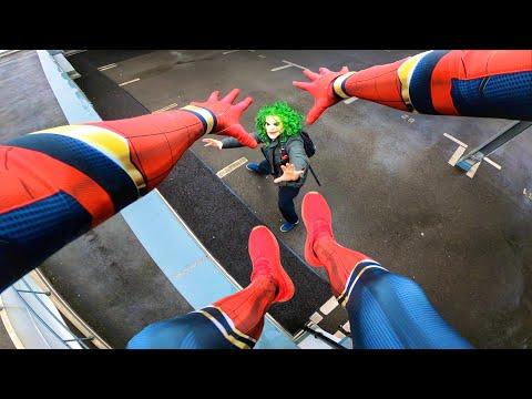 SPIDERMAN vs JOKER - Real Life Parkour POV