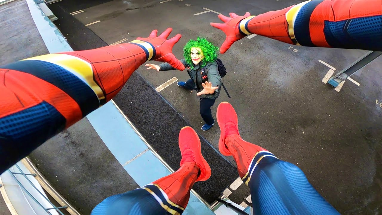 Spiderman Vs Joker Real Life Parkour Pov Youtube