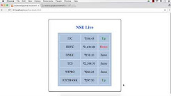 Live Stock Quotes Application using AJAX