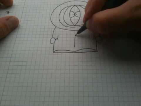 kenny von southpark zeichnen lernen kenny malen youtube. Black Bedroom Furniture Sets. Home Design Ideas