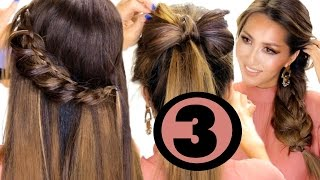 3 Cutest HAIRSTYLES Made EASIER for YOU ★ Easy Holiday Hairstyles