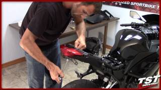 How to install 2013-2015 Kawasaki Ninja 300 Integrated Taillight, Fender Eliminator, Flasher Relay