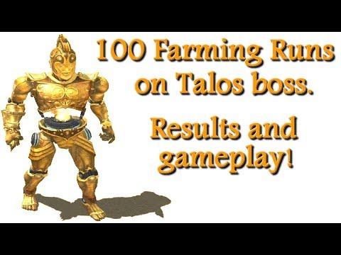 Titan Quest Ragnarok 100 Farming runs on Talos boss