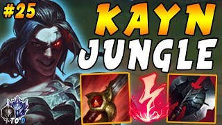 Kayn JUNGLE with Electrocute Red Smite Warrior and Black Cleaver | Iron IV to Diamond Ep #25