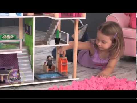 Maison de poup es contemporaine jouets en bois kidkraft for Maison moderne kidkraft