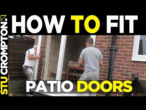 how to fit sliding patio doors