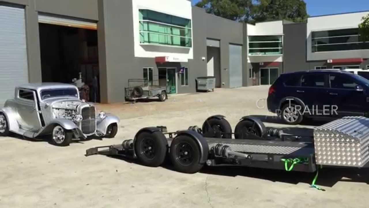 Siggz Street Rods Air Bagged Car Trailer