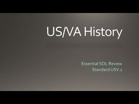 US/VA History - SOL Review - Standard 2 - Early Americas, Age Of Discovery & Early Colonization