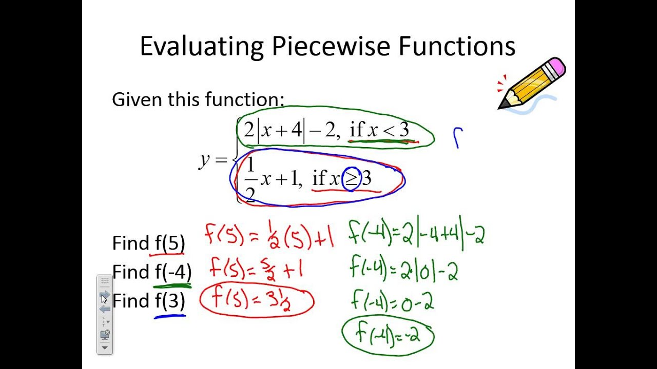 Evaluating Piecewise Functions - YouTube
