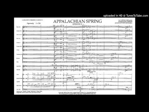 Aaron Copeland , Appalachian Spring, concert suite for full orchestra