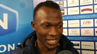 Réaction de Yankuba Jarju après Pau FC - Avranches (2-0)