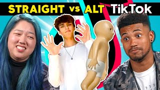 College Kids React To Straight Vs. Alt TikTok | Which Side Is Best?