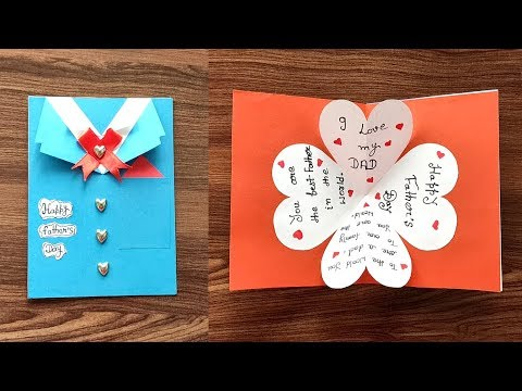 Diy Father S Day Greeting Card Ideas Handmade Father S Day Cards Youtube