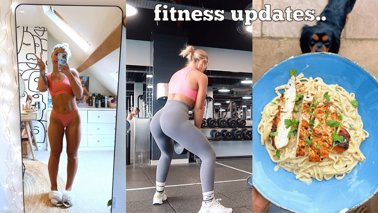 fitness day in the life vlog: heavy booty workout, body updates & cook healthy meals with me!