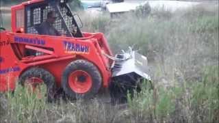 Video Bush cutter working