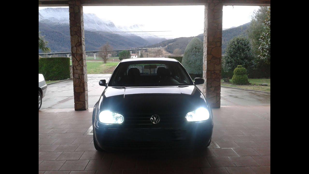 Instalaci n kit xen n h7 6000 k vw golf iv youtube - Entraxe golf 4 ...