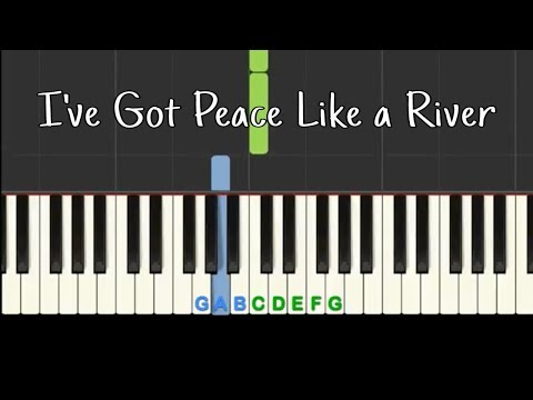 I've Got Peace Like a River: Easy piano tutorial with free sheet music