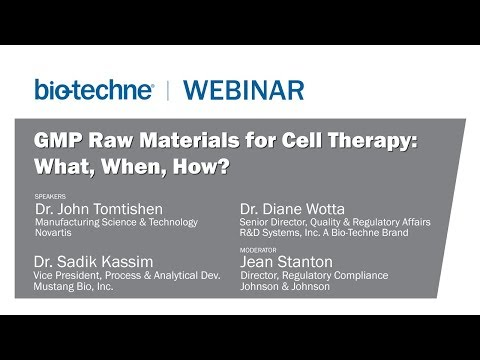 GMP Raw Materials for Cell Therapy: What, When, How?