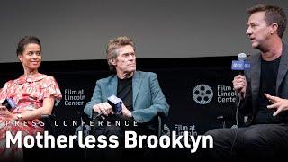 Edward Norton Gugu Mbatha-Raw and Willem Dafoe on Motherless Brooklyn  NYFF57