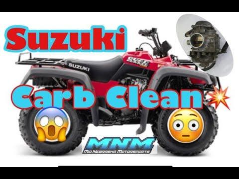How To - Clean Carburetor Carb Bad Fuel On Suzuki Quadrunner 500 Vinson Eiger 400 Master Rebuild