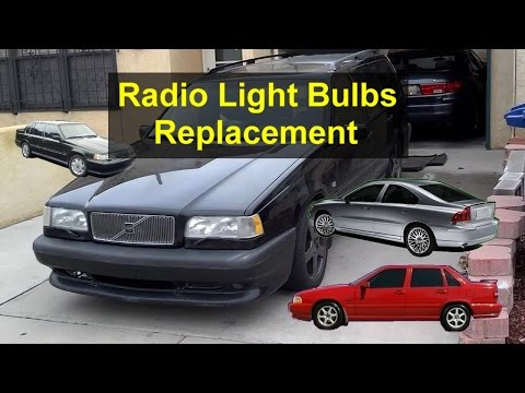 Radio Lights Bulb Replacement Volvo 850 S70 960 S80 Etc Votd